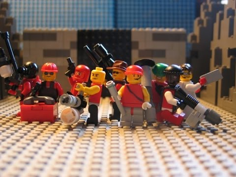 Lego Team Fortress 2 : Red team Blu's