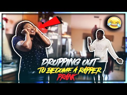 DROPPING OUT OF SCHOOL TO BECOME A RAPPER PRANK ON MOM! (BACKFIRES)