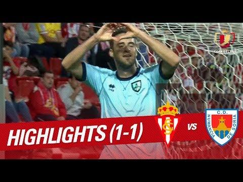 Resumen de Sporting de Gijón vs CD Numancia (1-1)