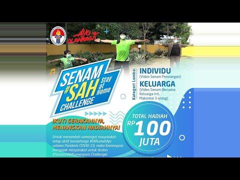 Lomba Senam Stay at Home (SAH) Kemenpora (Versi Keluarga)