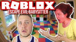 JEG STIKKER AF HJEMMEFRA! :: Dansk Roblox Escape the Evil Babysitter