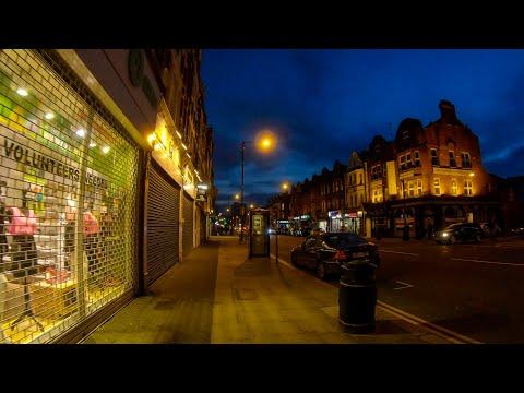 Walking in London: Just before Lockdown (around Finchley Central) [4K Binaural ASMR] ロンドン:ロックダウン直前の夜