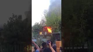 Fire tears through Windsor West townhouse complex