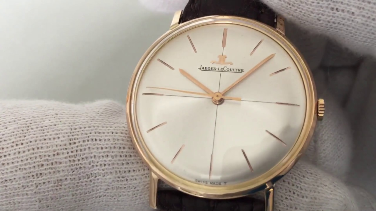 Jaeger Lecoultre Vintage Gold Watch