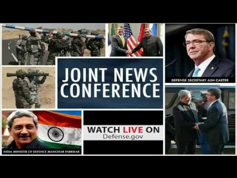 NATO News: 08-29-16. Defense Secretary & Indian Defense Minister Joint News Conference.