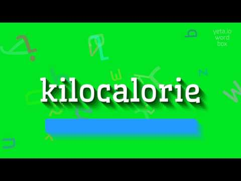 """How to say """"kilocalorie""""! (High Quality Voices)"""