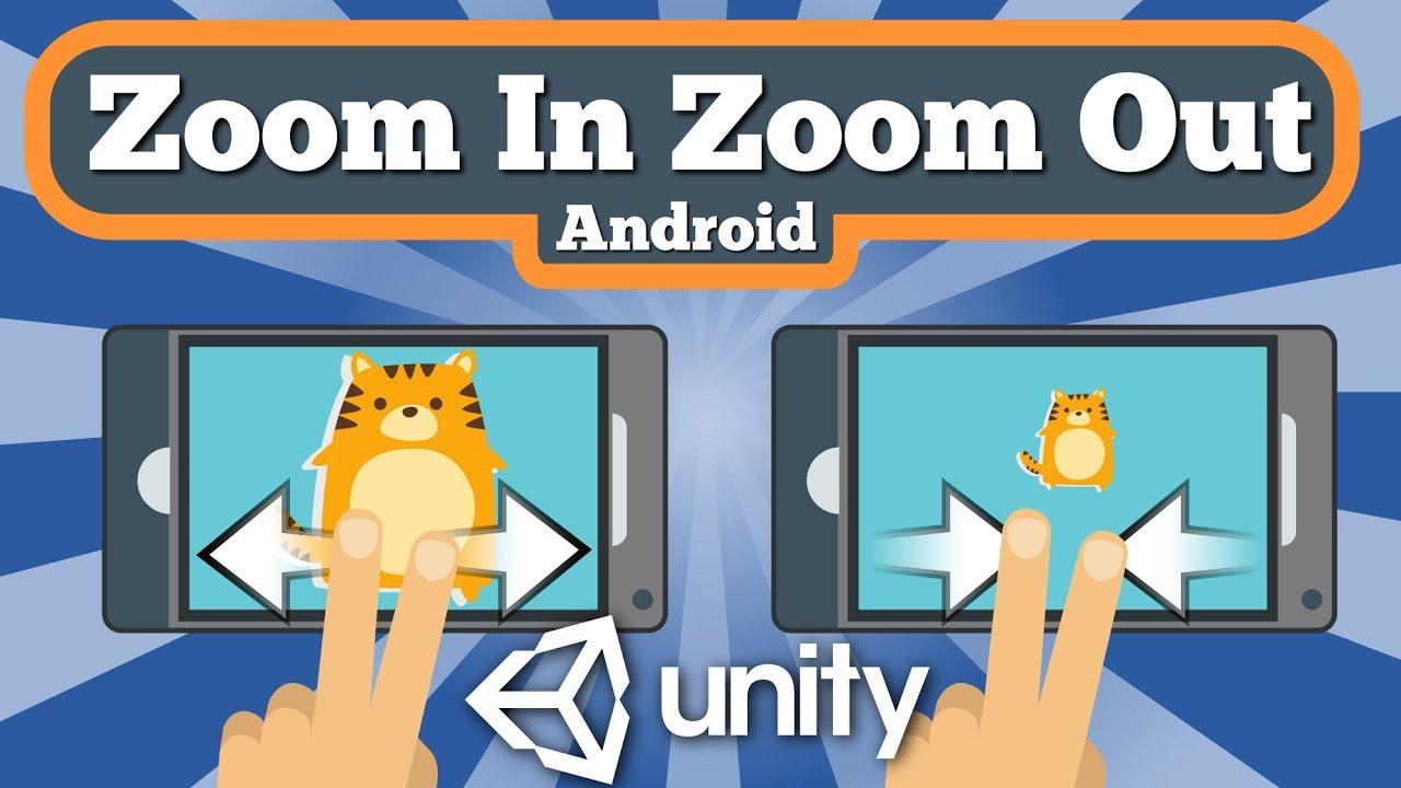 Unity 2D Tutorial About How To Zoom In And Zoom Out Game View With Finger Pinch On Android Device.