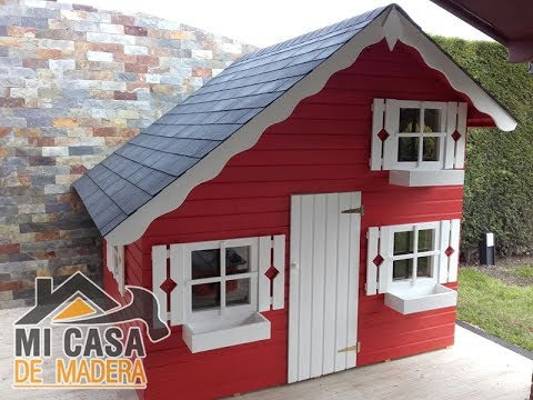 Caseta de madera infantil modelo tom mi casa de madera - Casitas de madera infantiles baratas ...