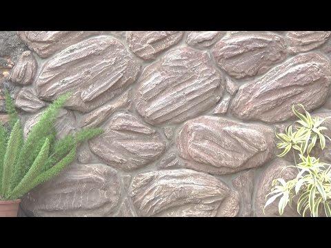 Como fazer pedras artificiais revestir muros ou paredes