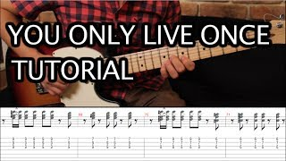 "Como tocar ""You Only Live Once"" de The Strokes - Tutorial Guitarra + TAB (HD)"