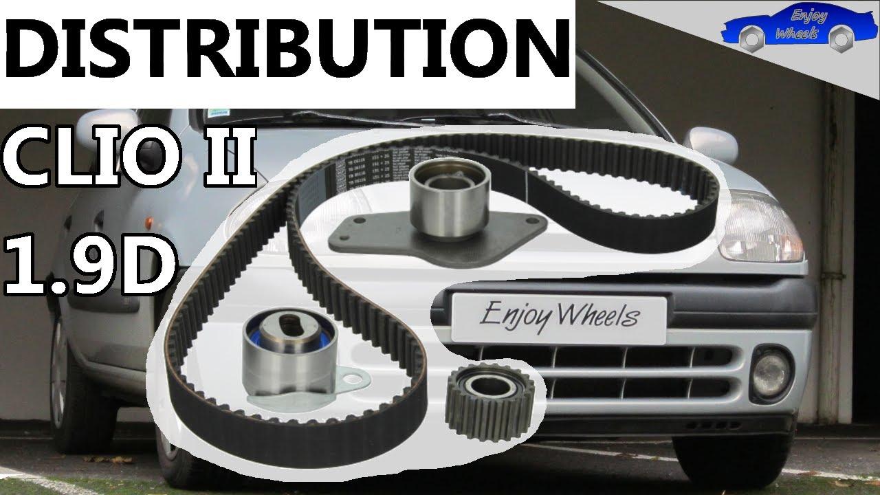 Clio 2 1 9D : Timing belt replacement ( F8Q motor)