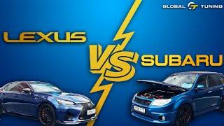 Subaru vs Lexus. Жарим по городу