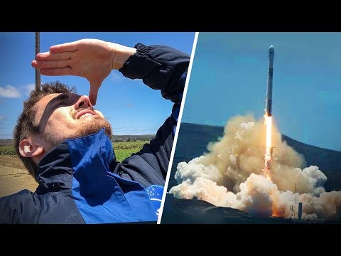 We went to a ROCKET LAUNCH!! 🚀 (SPACEX)