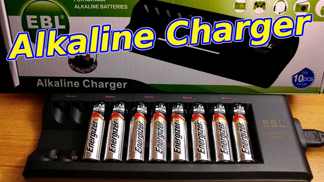 Alkaline Battery Charger Review Ebl Youtube