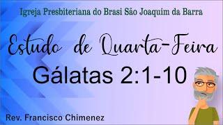 Estudo de Quarta-Feira Gálatas 2:1-10