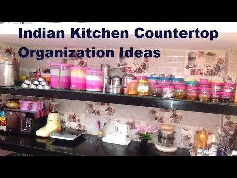 Kitchen Countertop Organization Ideas Indian Kitchen Organization Tips For Non Modular Kitchen