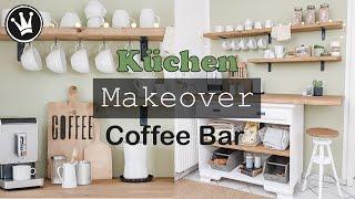 ROOM MAKEOVER Küche   Kaffee Bar und Sitzecke selber bauen   Upcycling   VERLOSUNG   DekoideenReich