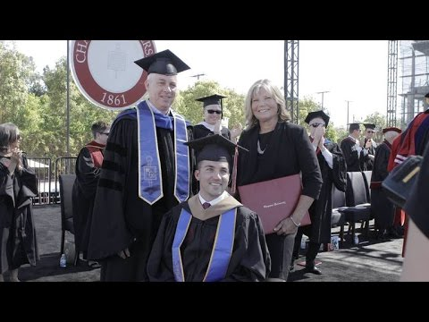 Mom receives honorary degree for attending all classes with quadriplegic son
