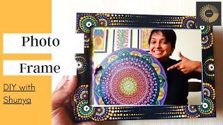 Making one Unconventional Mandala Photo Frame/ DIY with Shunya screenshot 4