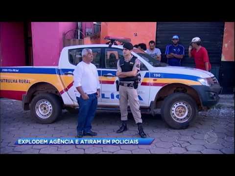 Bandidos explodem agência bancária e atiram em policiais no interior de Minas Gerais