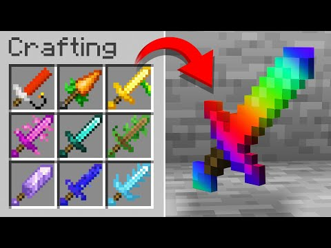 Minecraft but there are Custom Swords…