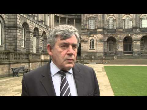 Gordon Brown previews commission