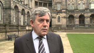 Gordon Brown previews commission