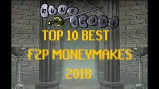Runescape 2007 - Top 10 Best OSRS F2P Money Making Methods - Begin 2018
