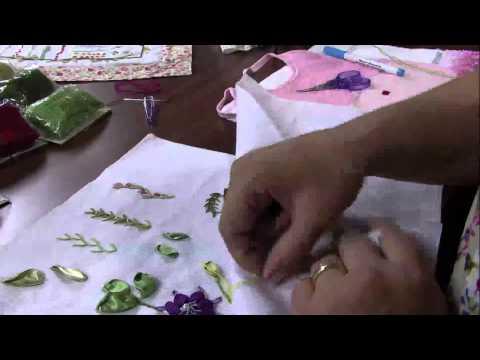 Mulher.com 10/04/2013 Valéria Soares - Bordado em ponto rococo  Parte 1