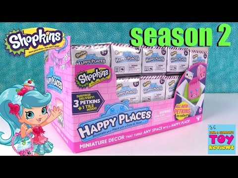 Happy Places Shopkins Series 2 Full Box Opening Blind Bag Fun | PSToyReviews