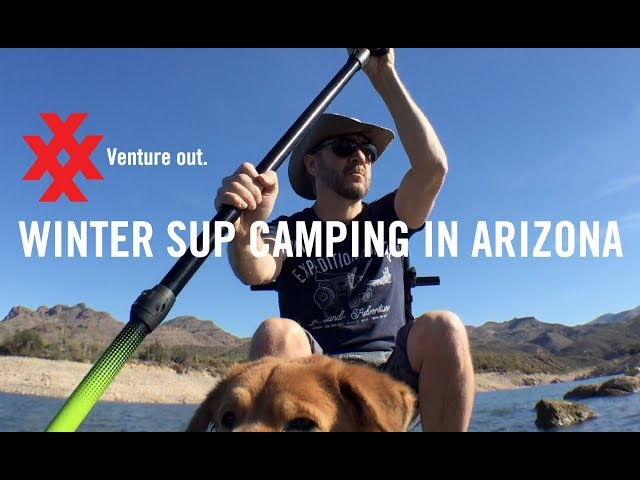 Stand up Paddle Board Adventure Winter Camping on Bartlett Lake in Arizona by 4XPEDITION