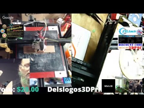 Monday 3D printing a hangout- 3D printing and working on some models