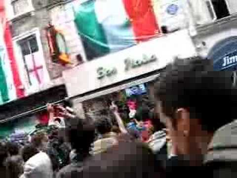 World Cup - Italy Wins Match 53 (Australia) - in Soho London