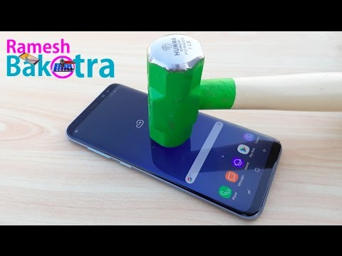 Samsung Galaxy S8 Plus Screen Scratch Test Gorilla Glass 5