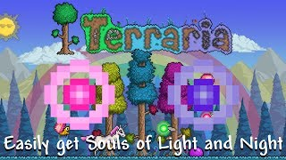 How to easily get Souls of Light & Souls of Night in Terraria