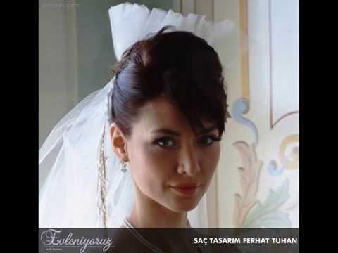 Nefise Karatay Gelin Başı Modelleri  Gelinsac.com Wedding Hair