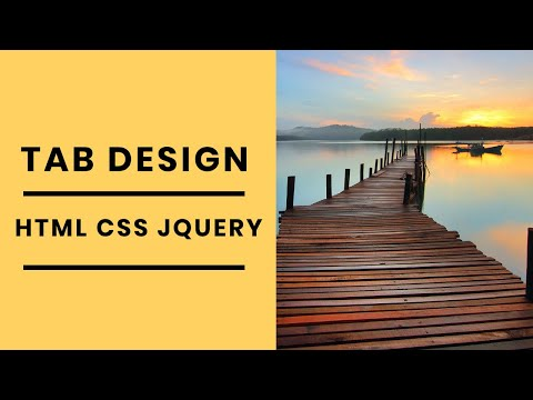 Mouseover Tab Design with html css and jquery | Web Design Tutorial