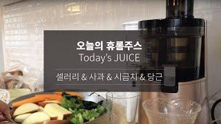 오늘의휴롬주스 (셀러리,사과,당근,시금치) - Toda…
