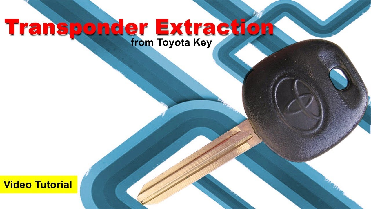 2015 Toyota Tacoma Wiring Diagram Extract Transponder Sensor From Key Youtube