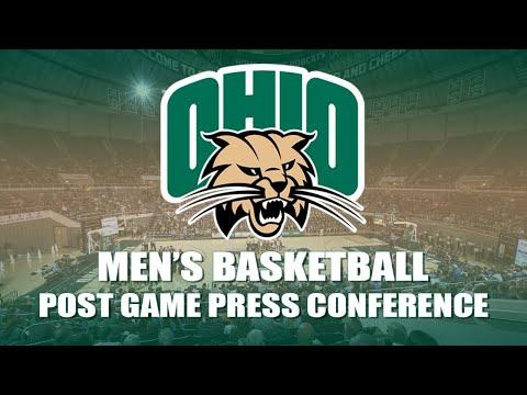 Ohio Men's Basketball 2019-2020: Post Game Press Conference (Toledo)