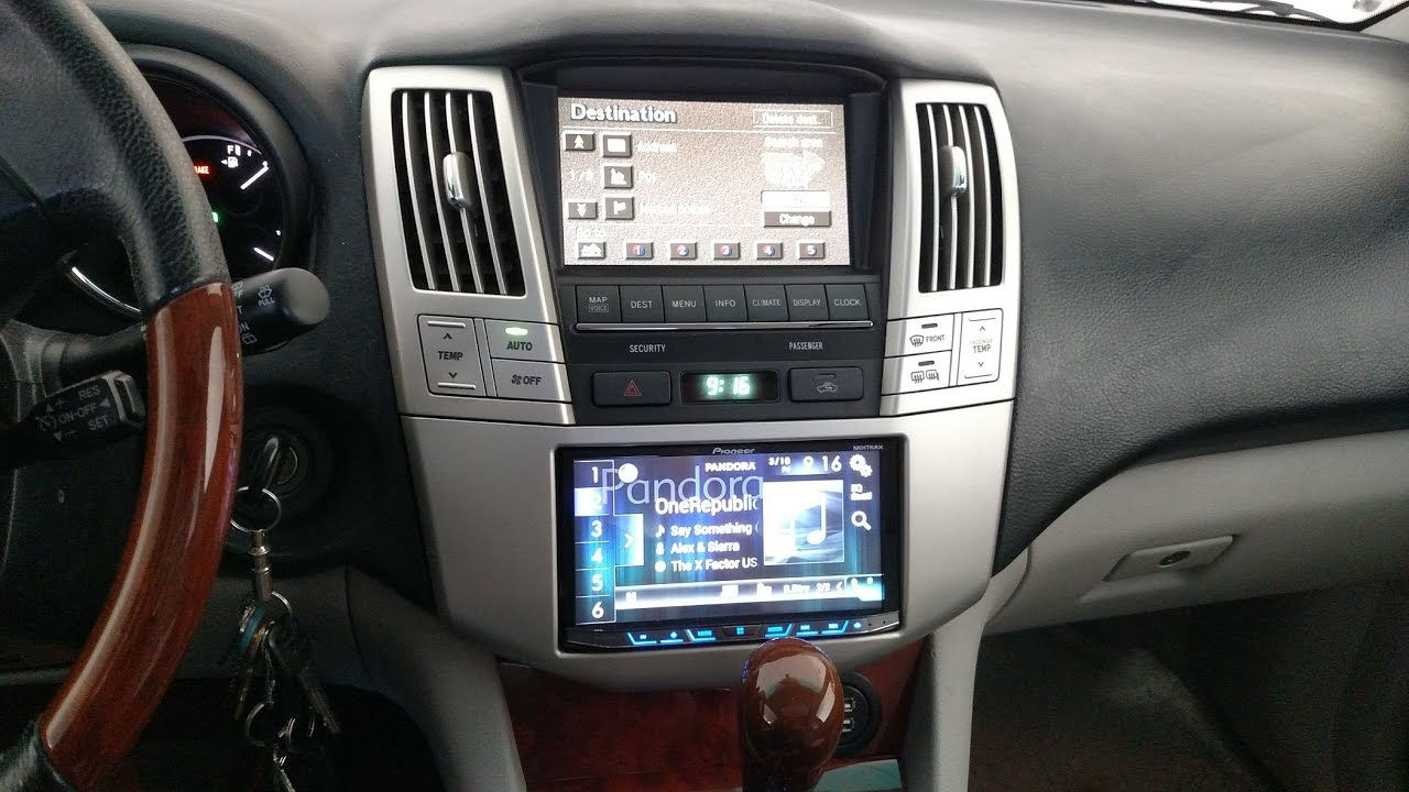 how to upgrade the car stereo on a lexus rx330 add usb ports and run microphone to light dome [ 1280 x 720 Pixel ]