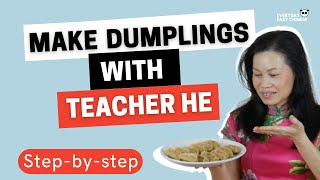 HOW TO Make Chinese Dumplings At Home - With English Subtitles