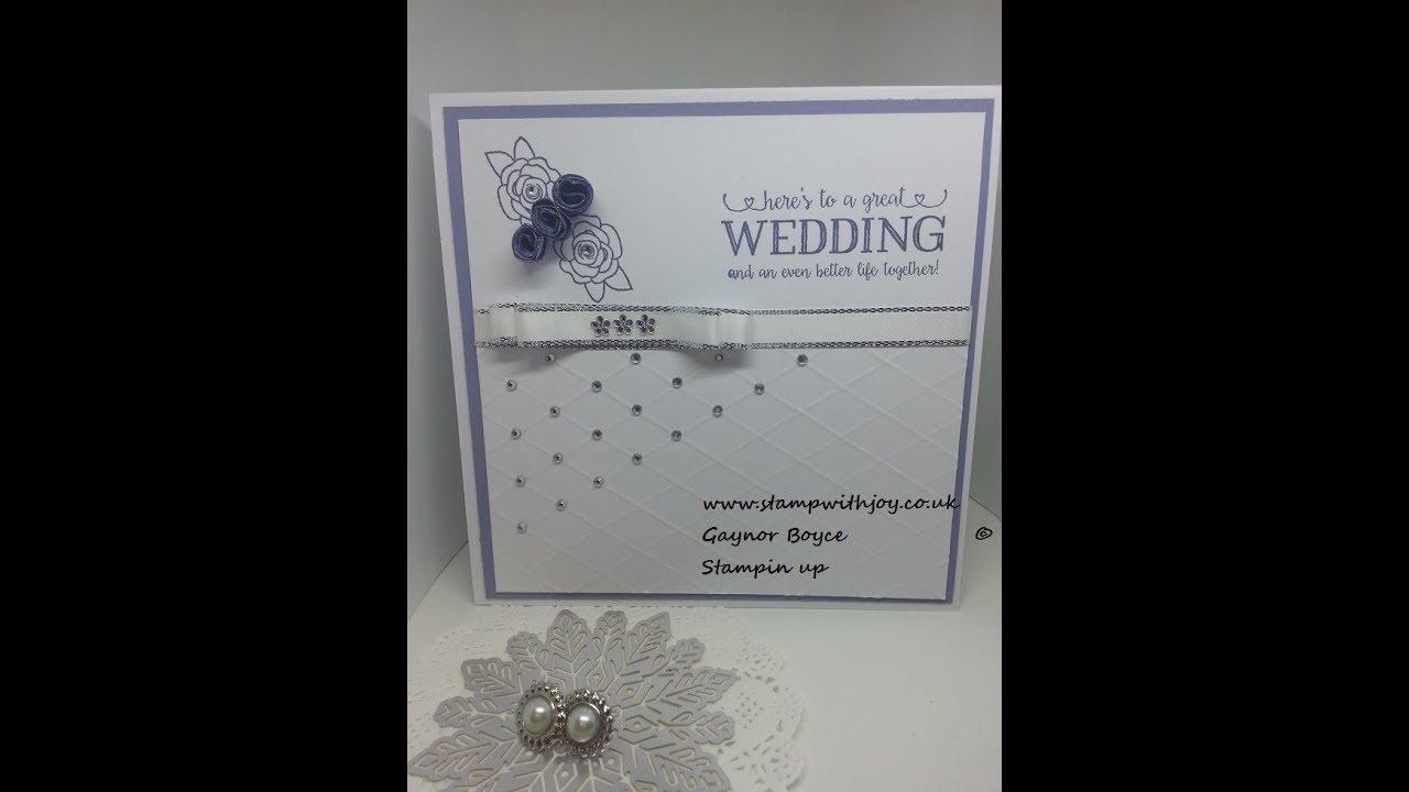 Simple elegant wedding card using better together Stampin up