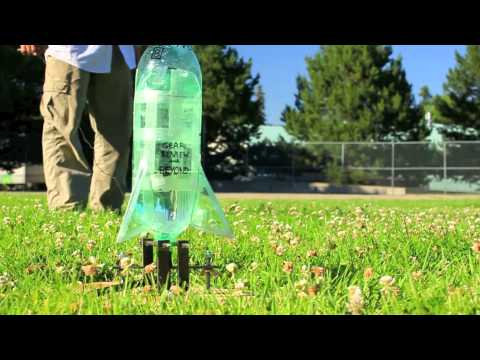 Awesome homemade AIR POWERED bottle rocket!