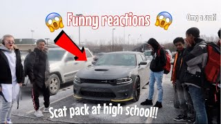 DRIVING MY 2019 SCAT PACK TO SCHOOL FOR THE FIRST TIME *They Went Crazy* 😱