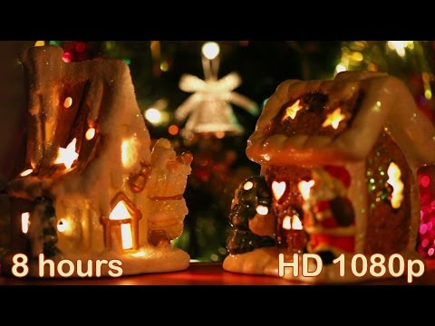 ☆ 8 HOURS ☆ CHRISTMAS MUSIC and FIREPLACE Sounds ♫ Christmas Music Instrumental ♫ Solo Piano