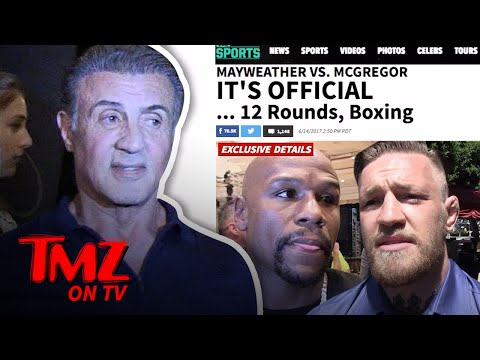 Sylvester Stallone – Makes Pick in McGregor-Mayweather Fight! | TMZ TV