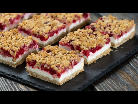 Raspberry Yogurt Bars