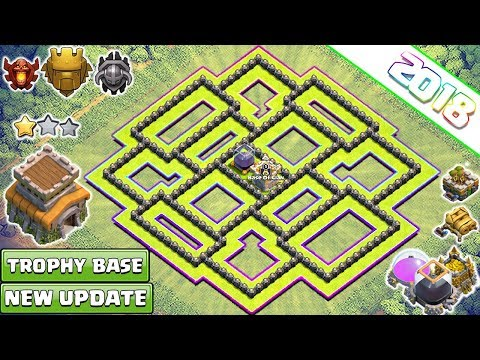 New BEST Town Hall 8 (TH8) TROPHY & FARMING Base 2018!! Th8 Base Design [DEFENSE] - Clash of Clans