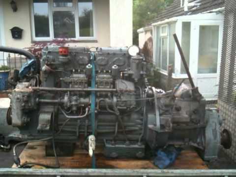 Diesel Engine For Sale >> Gardner 6LX marine diesel engine with 2UC gearbox test run 1962 built - YouTube